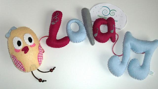 Nombre de fieltro (Lola)