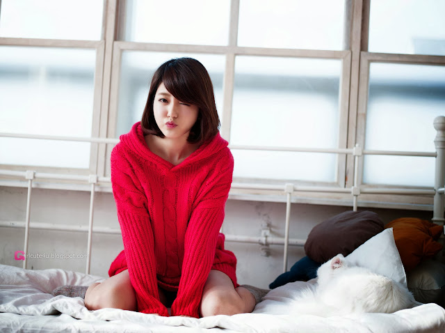 1 Bo Mi in red - very cute asian girl-girlcute4u.blogspot.com