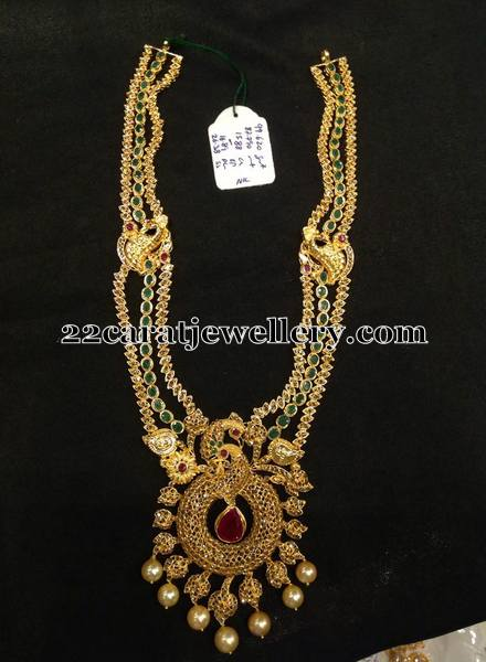 Uncut Diamond Emerald Long Chain