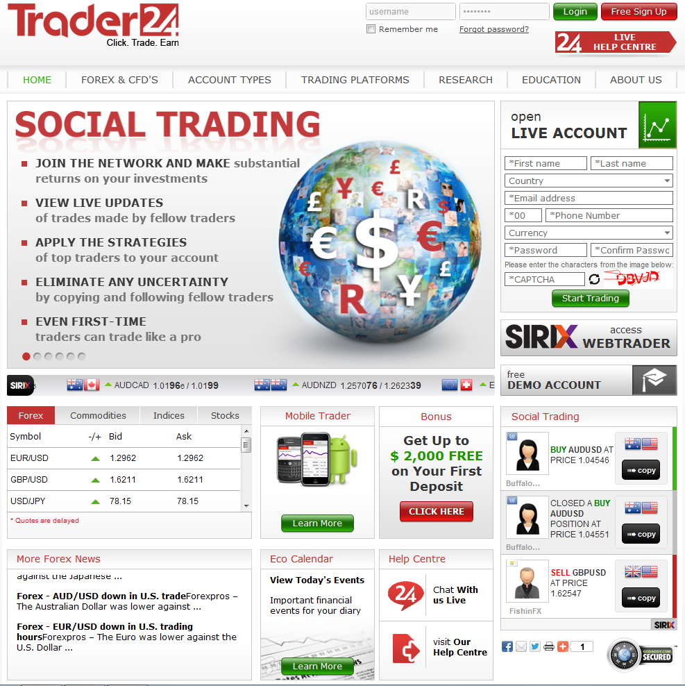 E online forex brokers