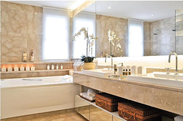 CASA TRÈS CHIC BANHEIROS -> Arquitetura De Banheiro Com Banheira