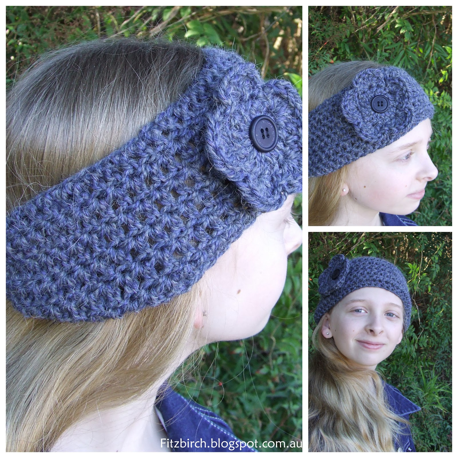 Free Knitting Pattern Chunky Headband : FitzBirch Crafts: Chunky Crochet Headband