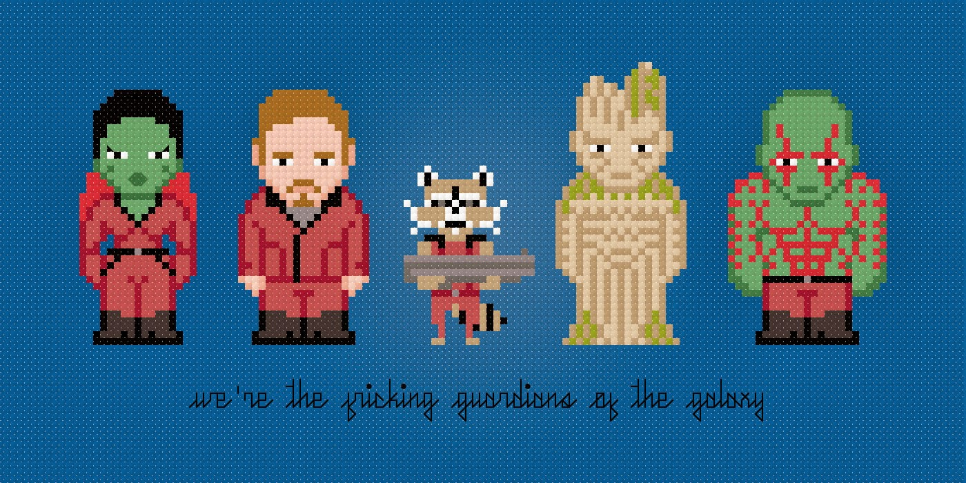 Guardians of the Galaxy - Cross Stitch PDF Pattern Download