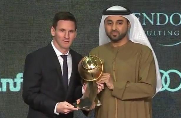 El FC Barcelona y Leo Messi acaparan los Globe Soccer Awards 2015
