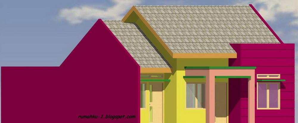 rumahku 1 denah tampak depan rumah minimalis rumah type