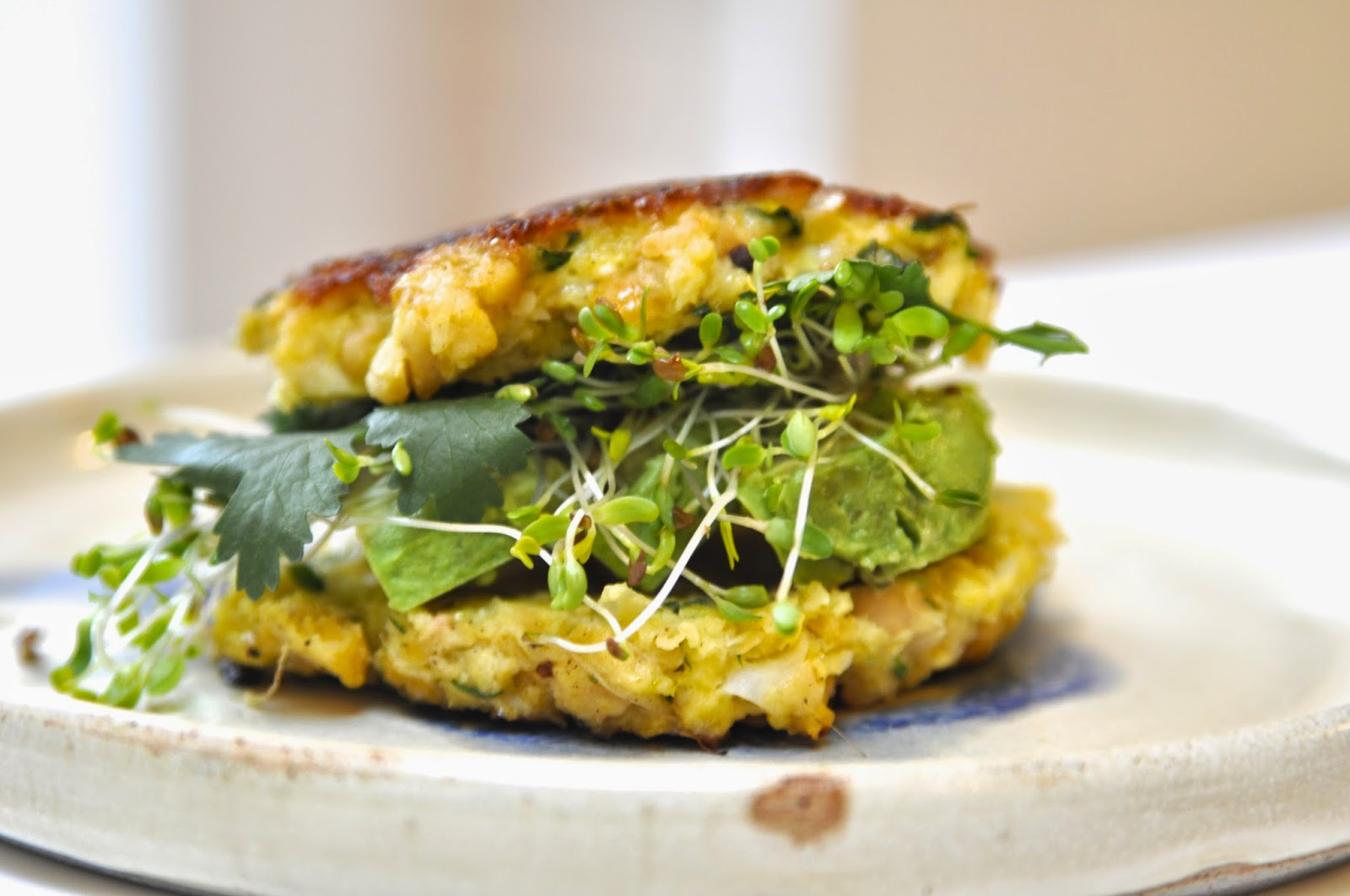 Two Blue Lemons: Sprouted Garbanzo Burgers
