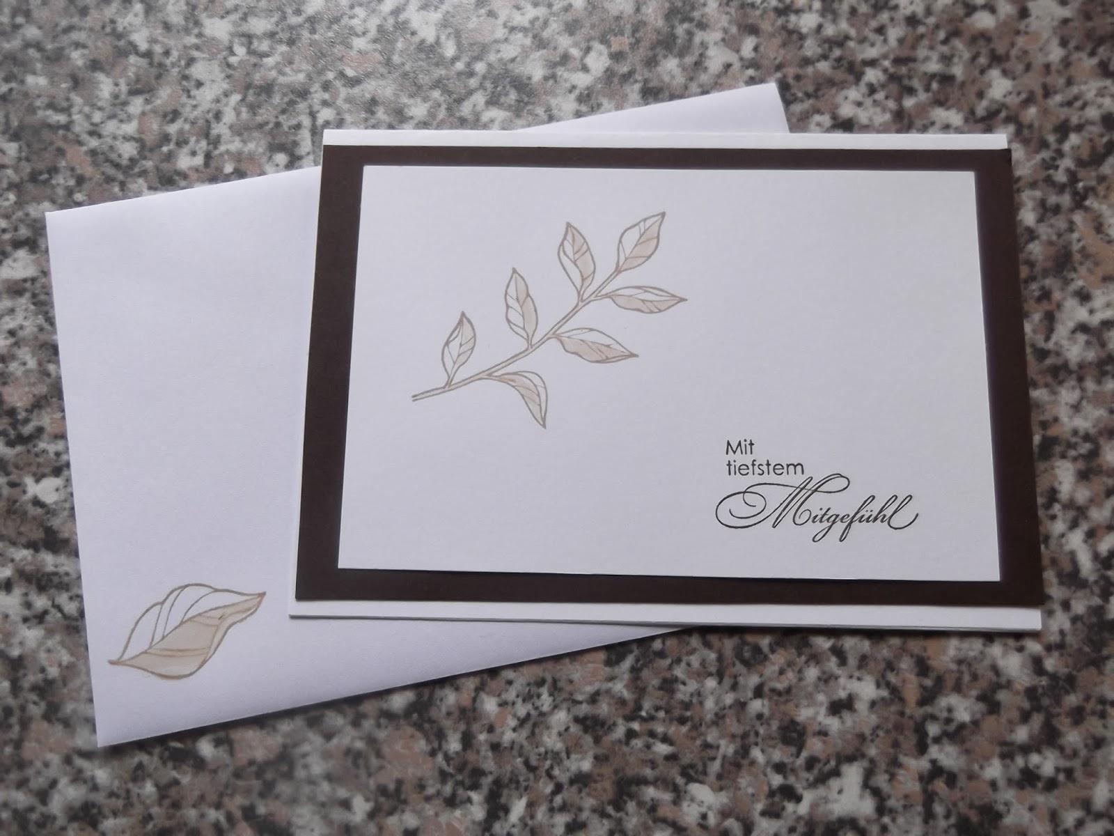 Briefumschlag Beschriften Für Trauerkarte : Sconebeker stempelscheune trauerkarten mit den stampin