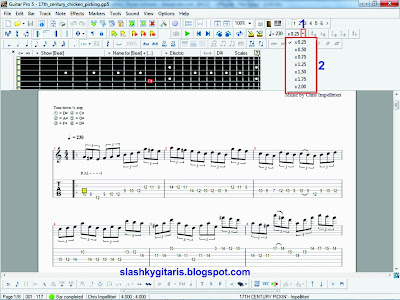 belajar gitar, guitar pro 5.2, teknik bermain speed,