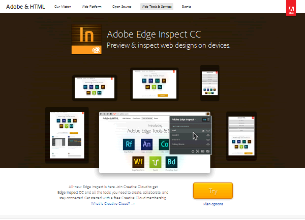 15 Best Responsive Web Design Testing Tools - Adobe Edge Inspect