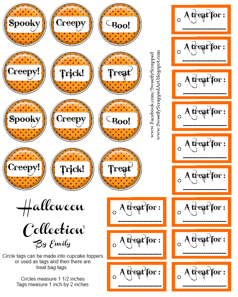 Dynamic image within printable halloween tags
