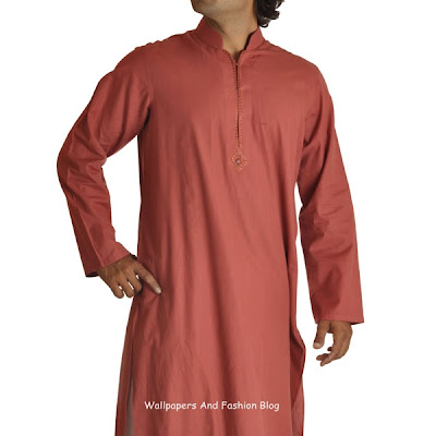 Junaid Jamshed Latest Orange Kurta Salwar (Salwar Kameez)  Designs for Men 2012