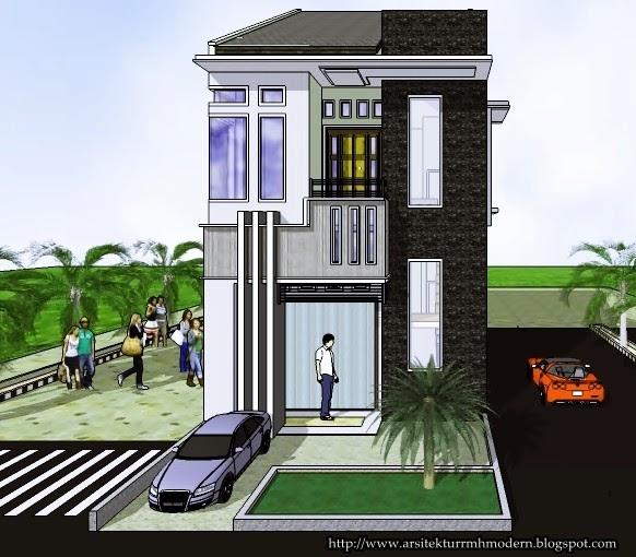 ruko minimalis model 1 dan 2 lantai modern