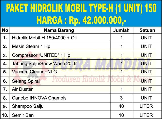 PAKET HIDROLIK MOBIL TYPE-H (1 UNIT) 150
