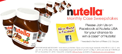 win a case of nutella
