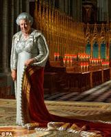 Αγγλία: Πατέρας 2 παιδιών και μέλος της Fathers 4 Justice, έβαψε με σπρέι σπάνιο πορτραίτο της Βασίλισσας Ελισάβετ, διαμαρτυρόμενος για την Ημέρα του Πατέρα