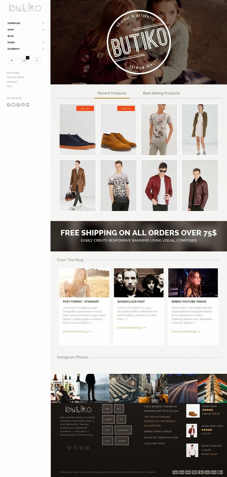 Responsive WooCommerce Theme 2015