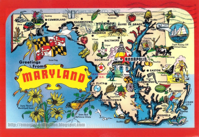 Mapcard | United States of America | Maryland
