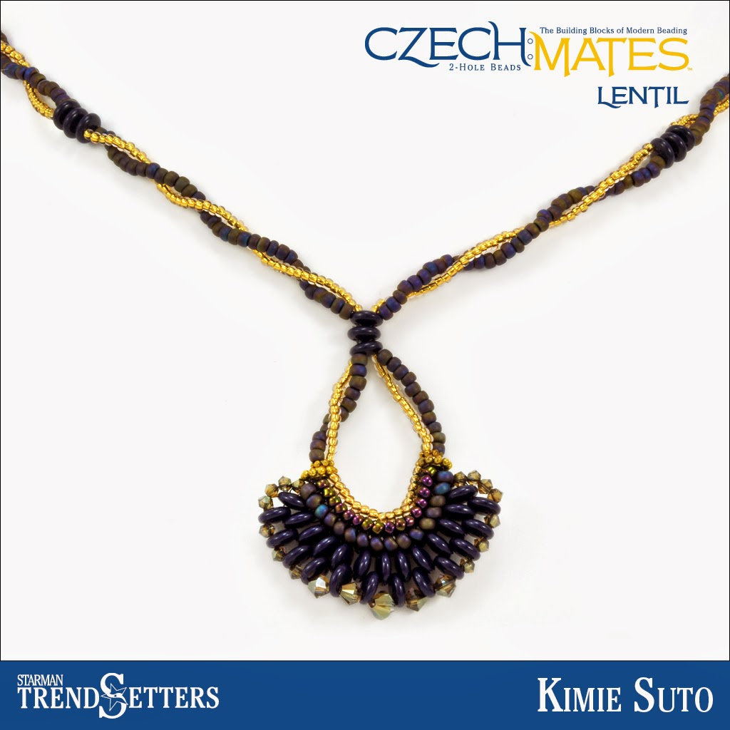 CzechMates Lentil necklace by Starman TrendSetter Kimie Suto