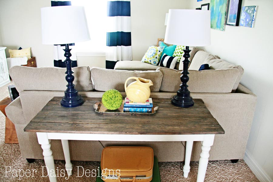 Media Room Sofa Table/paperdaisydesign.com