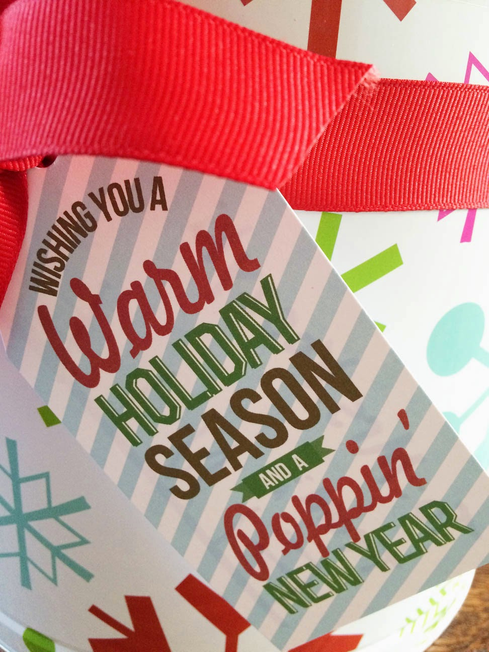 Nellie Design: Free Printable! Popcorn Holiday Gift Tag