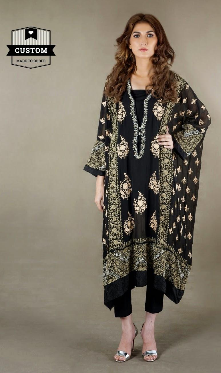 Shirt design ideas pakistani - Afh Ayesha Farook Hashwani Collection 2014