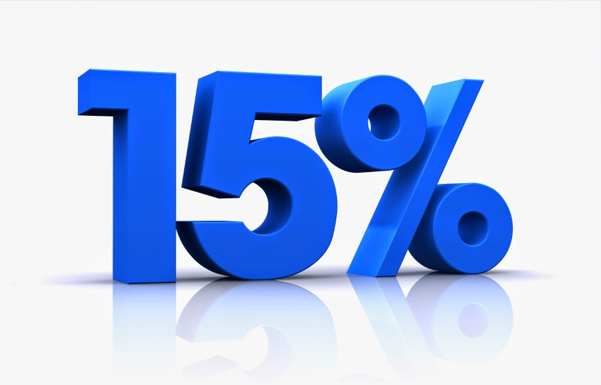 As a decimal, 15 percent is To find this answer, use the definition of percent given as part (P) per hundred to express it as the fraction P/ To find this fraction as a decimal, divide the numerator P by the denominator For 15 percent, this is rewritten as 15/ and expressed as