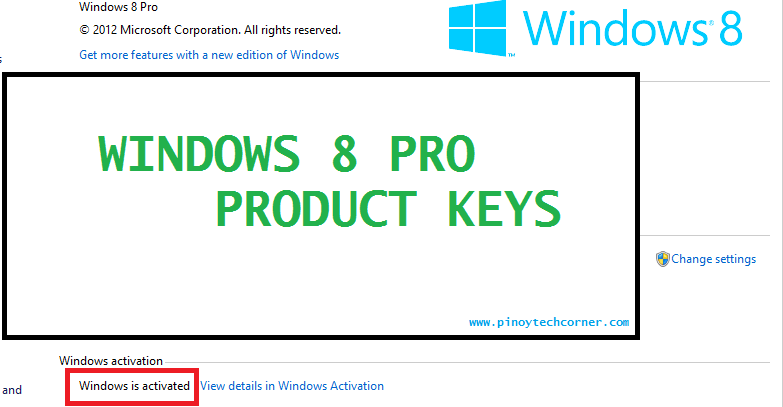 Product keys for windows 8 100 working serial keys for Window 8 1 product key