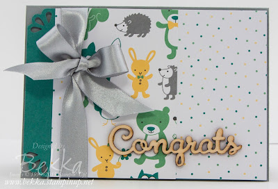 Hello Baby Card using Project Life by Stampin' Up! with a Bow on it!