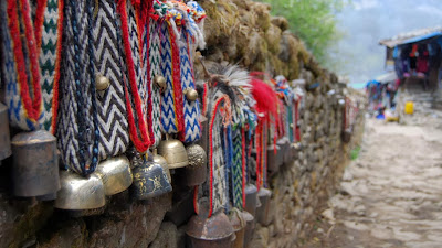 Yak bells for sale in Namche Bazaar, Nepal (© Sameer Tejani) 457