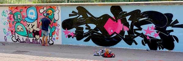 Graffiti de Posiek en proceso