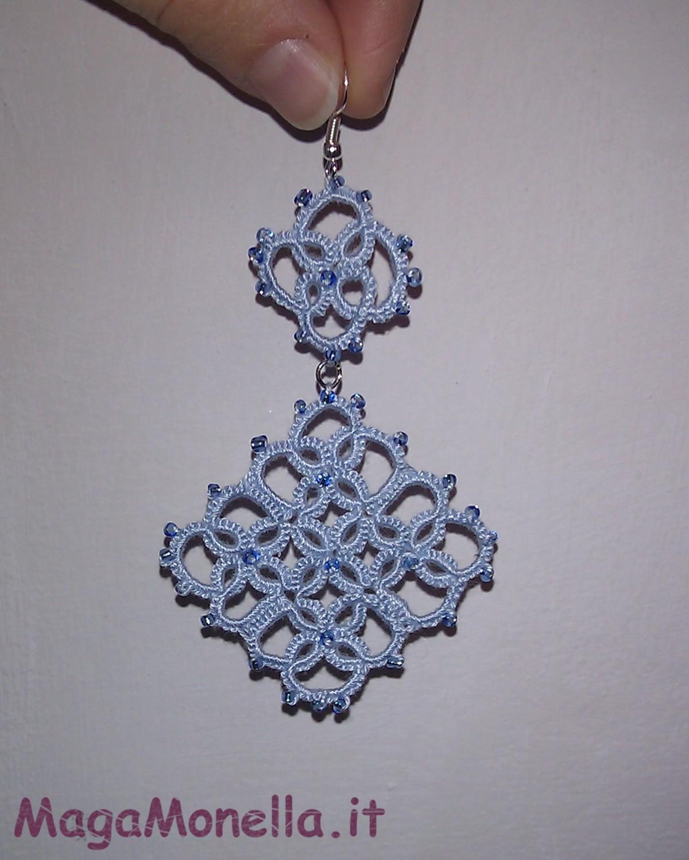 kB · jpeg, Orecchini a chiacchierino con perline - motivo geometrico