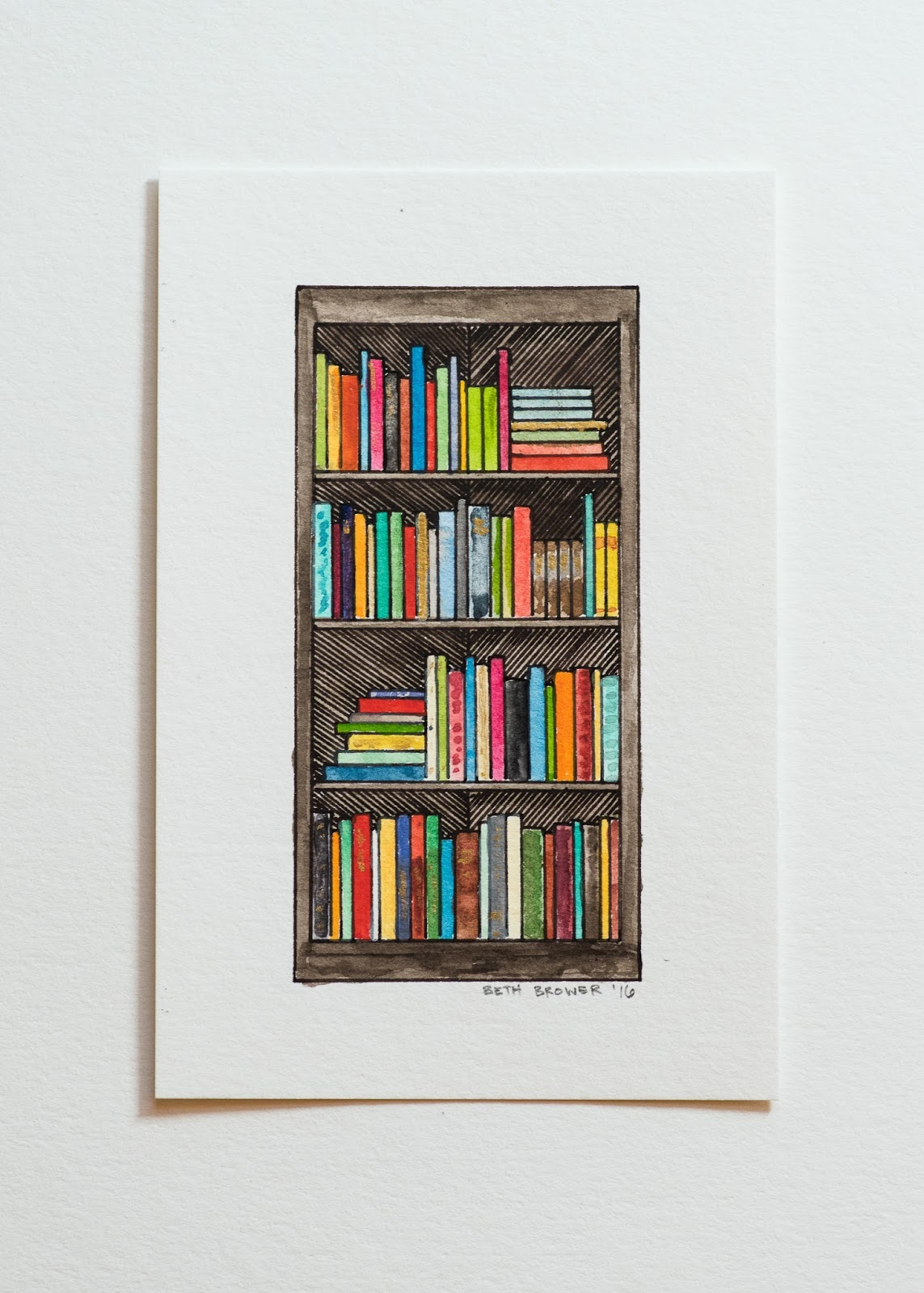 One Person Will Win The Original 4x6 Bookshelf Painting Pictured Below To Enter Simply Fill Out Rafflecopter Giveaway Is Open Internationally And