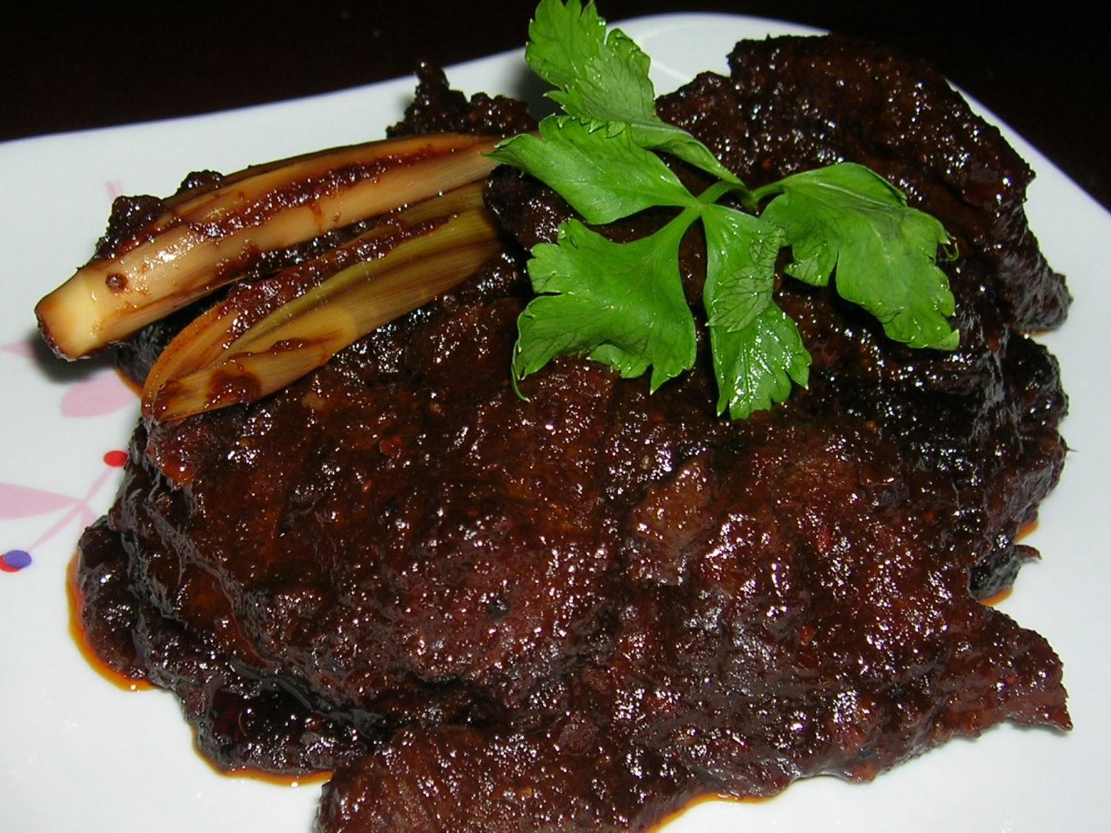 Daging Masak Hitam Mamak Menu Daging Masak Hitam