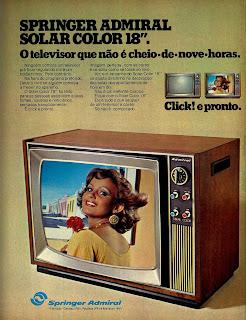 propaganda Televisor Springer Admiral - 1976 Anos 70. Oswaldo Hernandez. propaganda anos 70. Década de 70. História anos 70. reclame anos 70..
