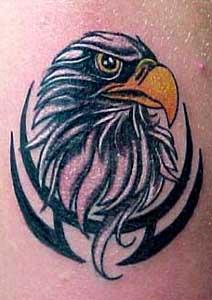 art of eagle tattoo on foot