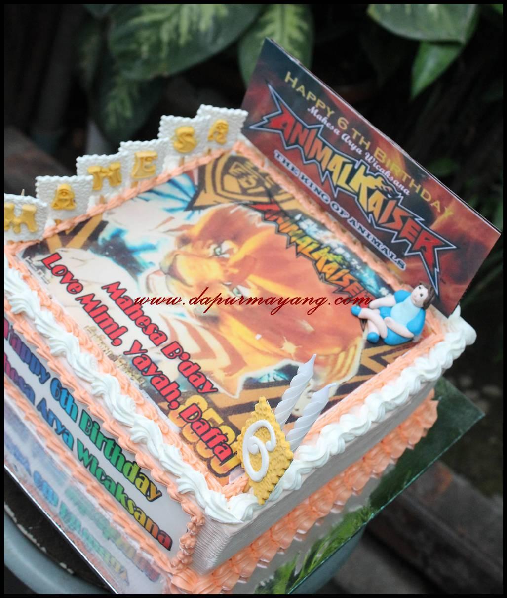 Order Kue Online Adiel Cakes by Dapur Mayang Animal Kaiser Cake
