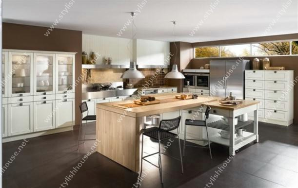 spacious Contemporary French Style Kitchen Designs