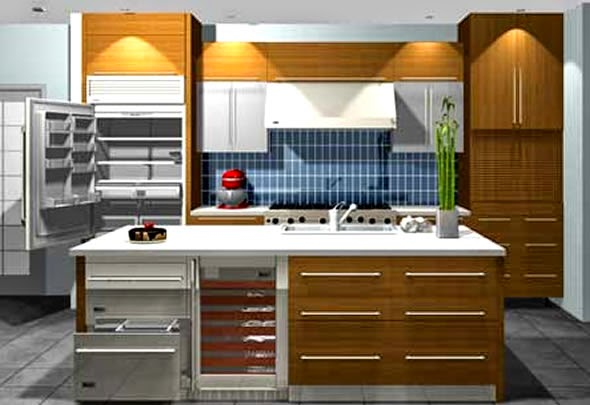 3d kitchen design software free for Kitchen designs programs
