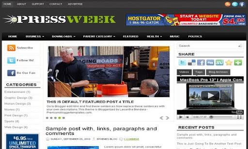 PressWeek Blogger Template