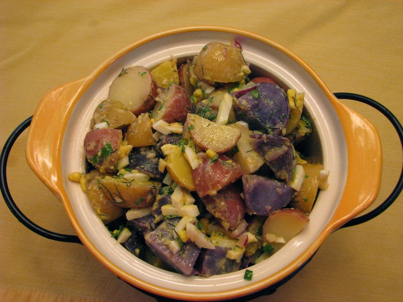 how to make white potato salad