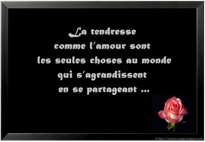 Citation tendresse en image