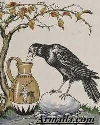 Cerita Motivasi Burung Gagak dan Kerikil