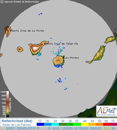 tormenta eléctrica y fuertes lluvias en el sur de gran canaria