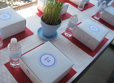 Too stinkin 39 cute party in the park Simple table setting for lunch
