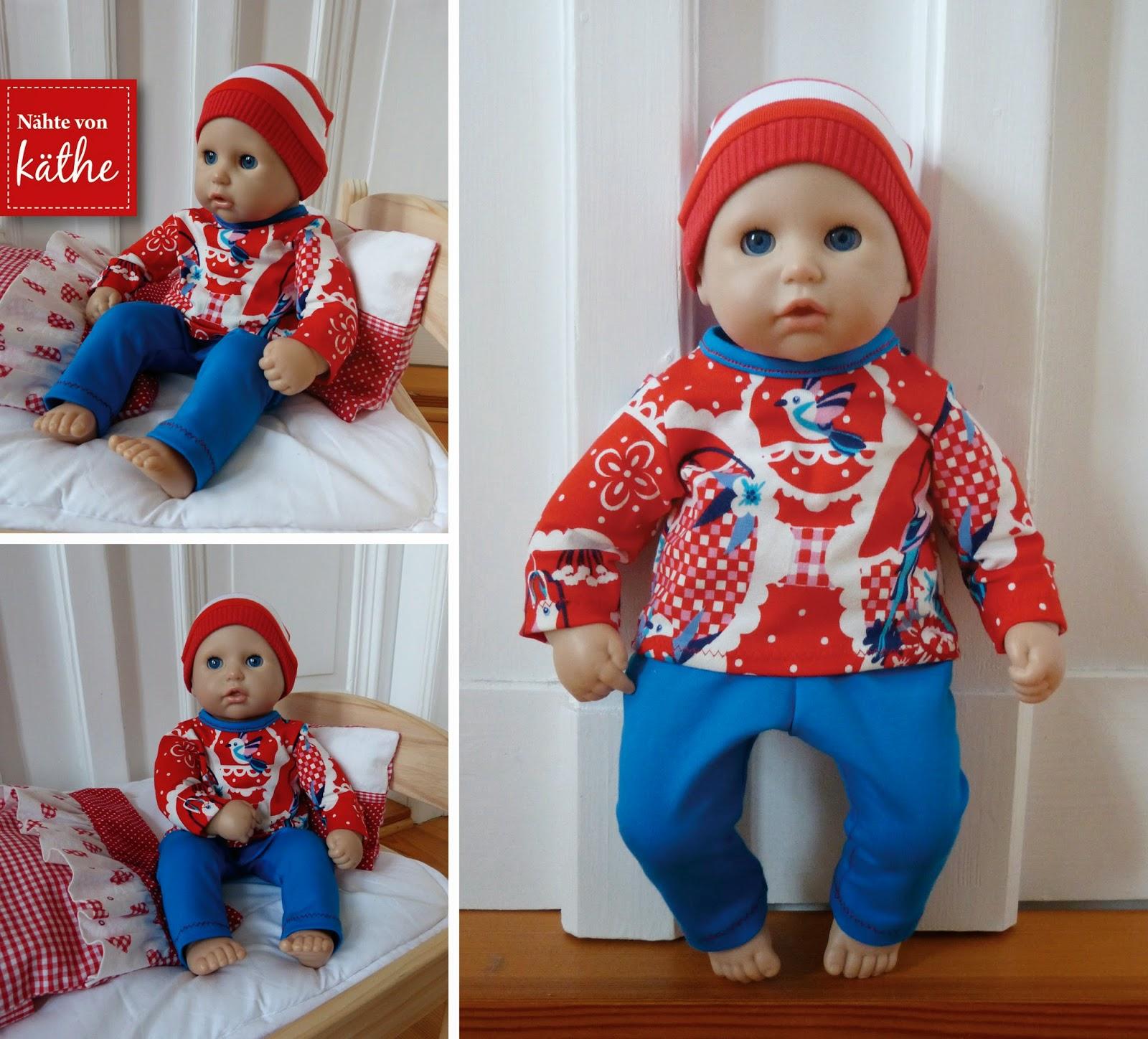 Puppenkleidung Leggings und Pullover