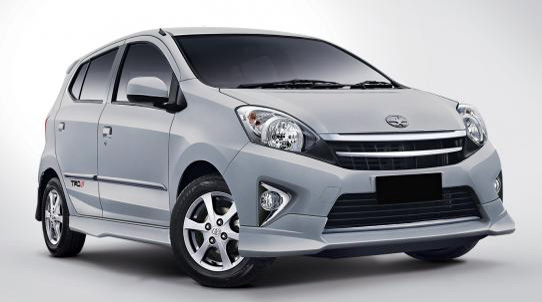 Warna Astra Toyota Agya - Silver Metallic