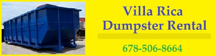 Villa Rica Dumpster Rental 678-506-8664