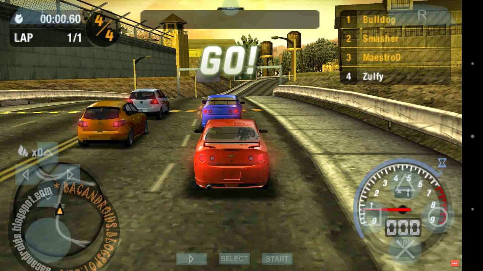Game NFS MW ISO ROM PSP