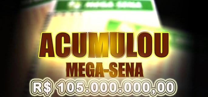 A Caixa Econômica Federal pode pagar até R$ 105 milhões no próximo sorteio da Mega-Sena
