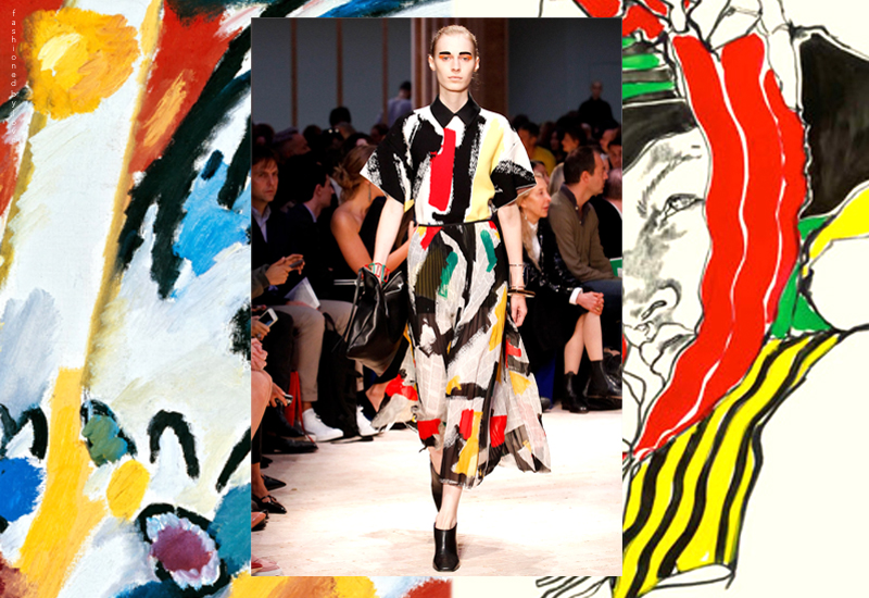 Celine woman was like a Tony Viramontes illustration sprung to life, with a bit of inspiration from Kandinsky art work